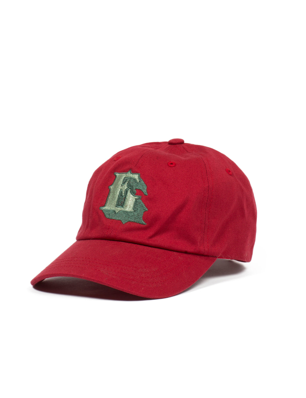 Tenderloin E Cotton Baseball Cap  - Red - Eine London by Ben Eine