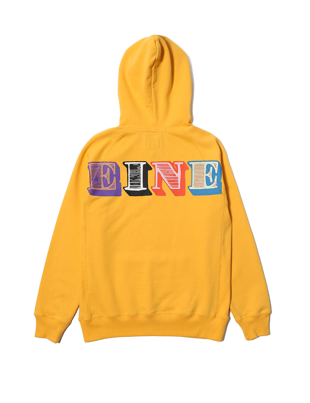 Eine Type Hooded Sweat - Gold - Eine London by Ben Eine