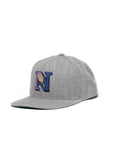 Circus N Cotton Snapback Cap  - Heather Grey - Eine London by Ben Eine