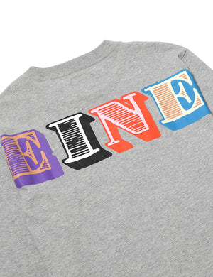 Eine Type L/S T-Shirt - Heather Grey - Eine London by Ben Eine