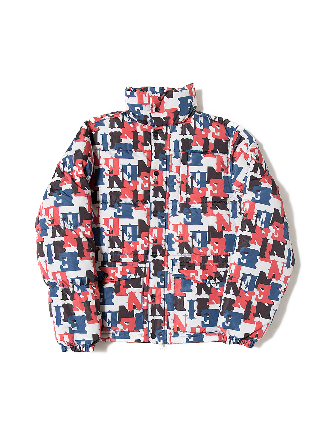 All-Over Print Down Jacket - Off White