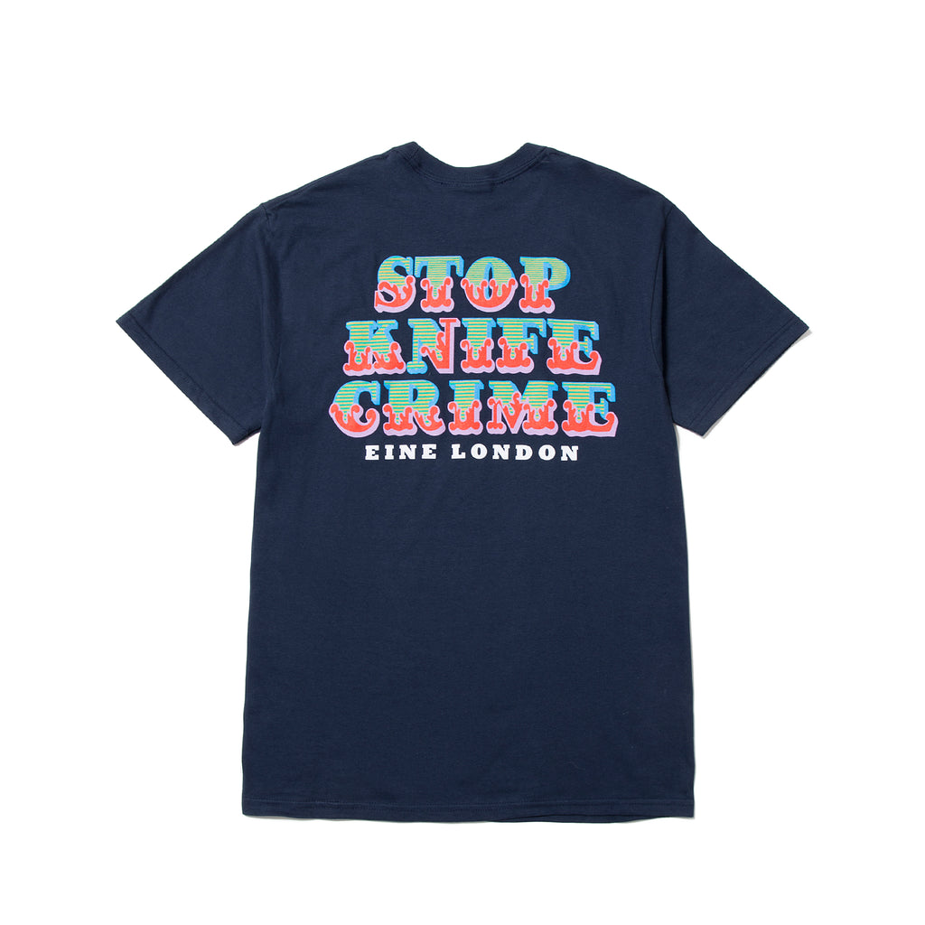 Stop Knife Crime S/S T-Shirt - Navy