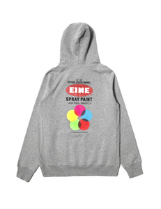 EINE Paint Hooded Sweat - Heather Grey - Eine London by Ben Eine