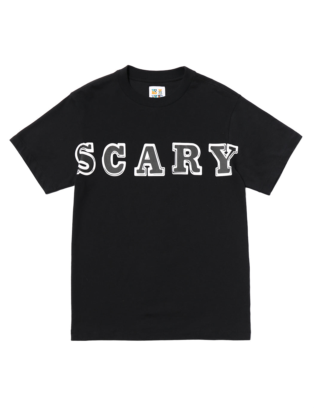 SCARY Oversized Text S/S T-Shirt - Black - Eine London by Ben Eine