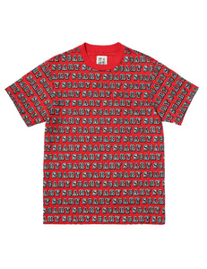 SCARY All-Over print S/S T-Shirt - Red - Eine London by Ben Eine