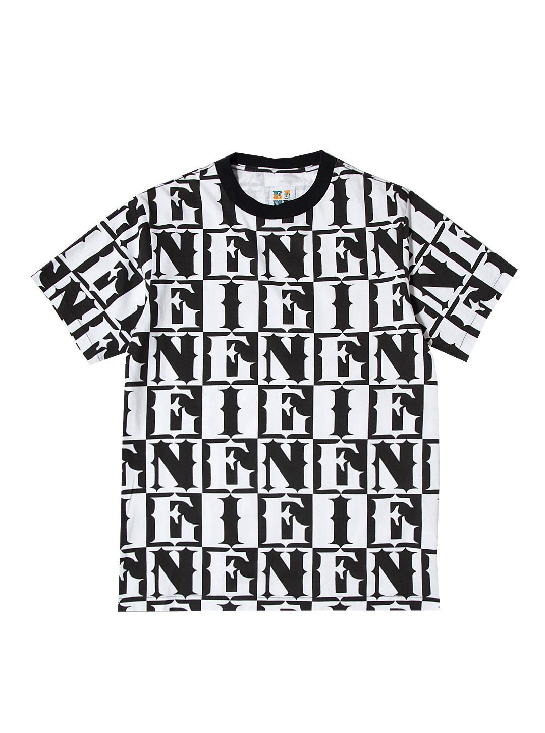 EINE Checkerboard S/S T-Shirt - Black Sample