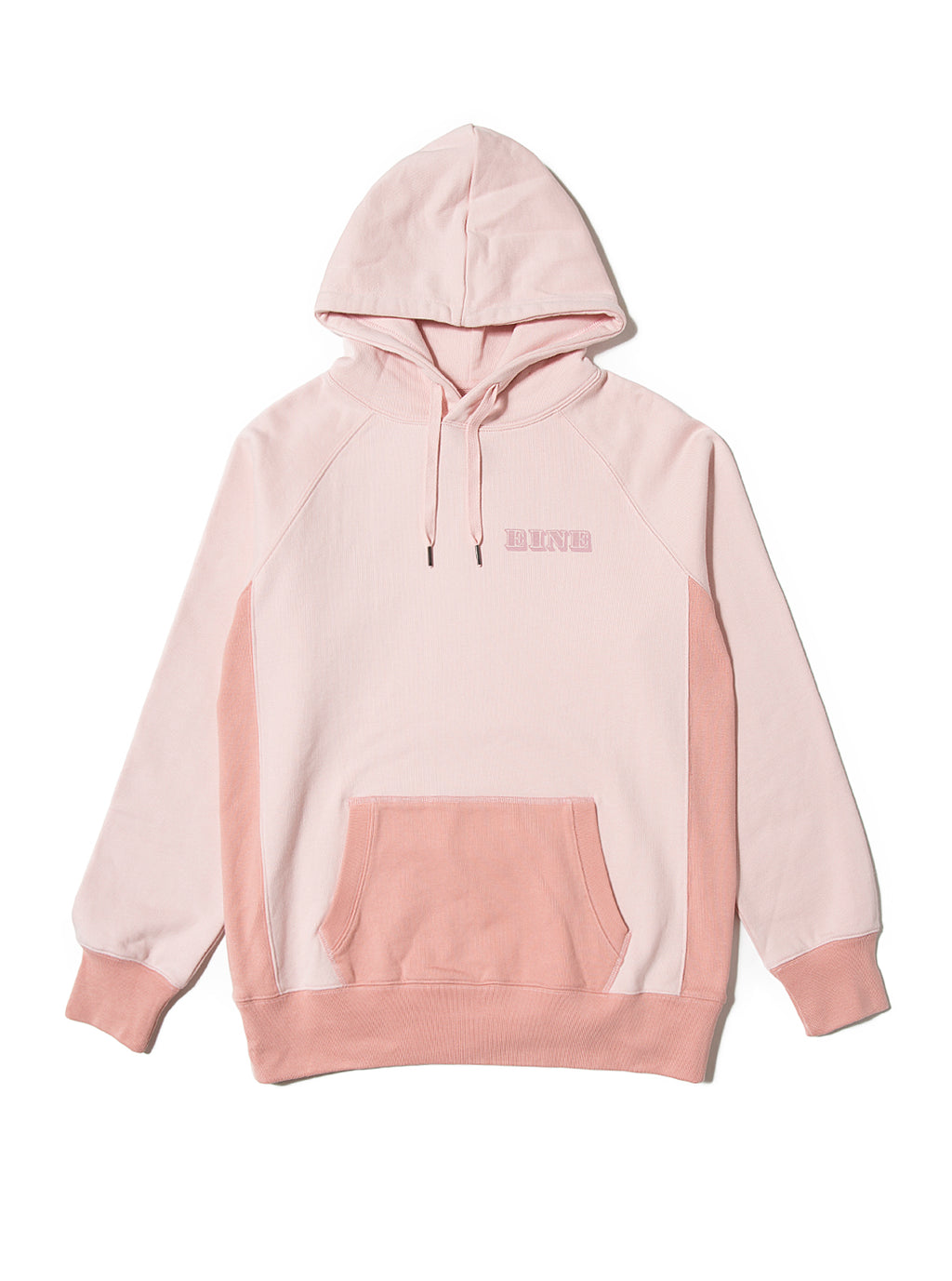 EINE Contrast Hooded Sweat - Pink Sample
