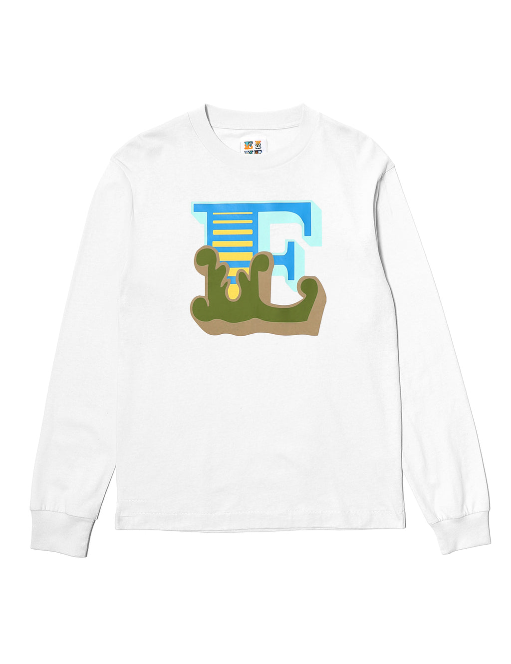Circus E L/S T-Shirt - White - Eine London by Ben Eine