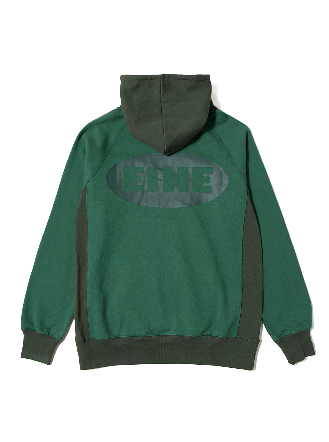 EINE Contrast Hooded Sweat - Green Sample