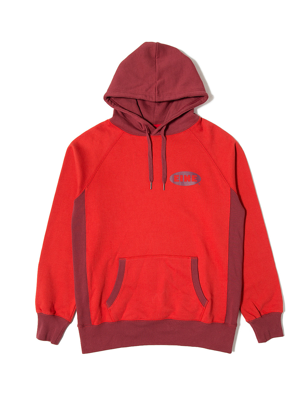 EINE Contrast Hooded Sweat - Red Sample