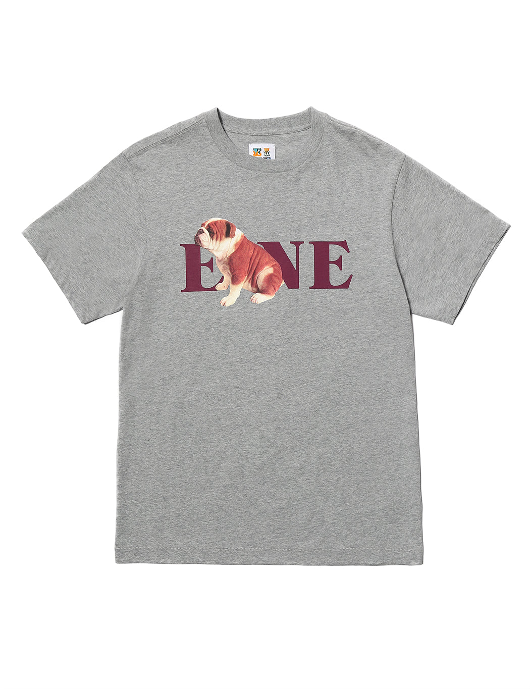 EINE Bulldog S/S T-Shirt - Heather Grey - Eine London by Ben Eine