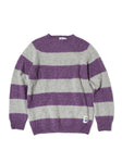 EINE Contrast Brushed Wool Jumper - Purple Stripe Sample