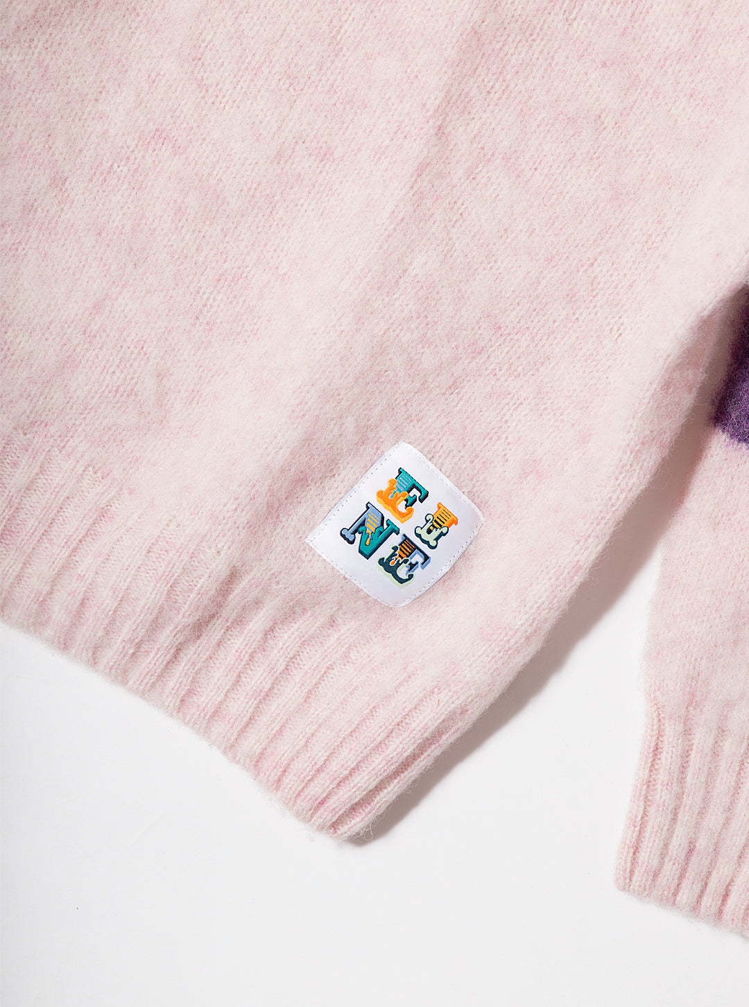 EINE Contrast Brushed Wool Jumper - Pink Purple Sample