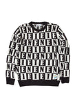 EINE Intarsia Wool Jumper - Black White Sample