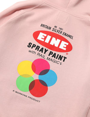 EINE Paint Hooded Sweat - Rose Pink - Eine London by Ben Eine