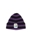 EINE Stripe Wool Beanie - Black Purple Sample