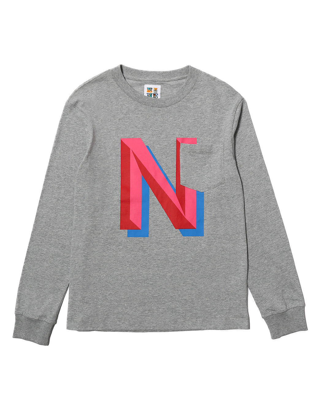Gaspipe N Pocket L/S T-Shirt - Heather Grey - Eine London by Ben Eine
