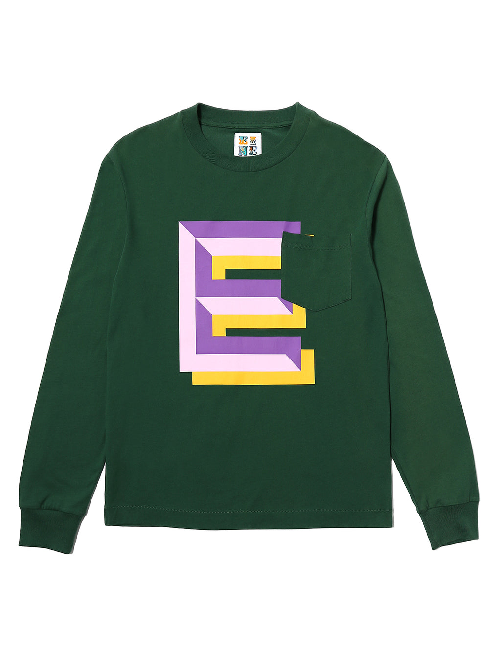 Gaspipe E Pocket L/S T-Shirt - Forrest Green - Eine London by Ben Eine