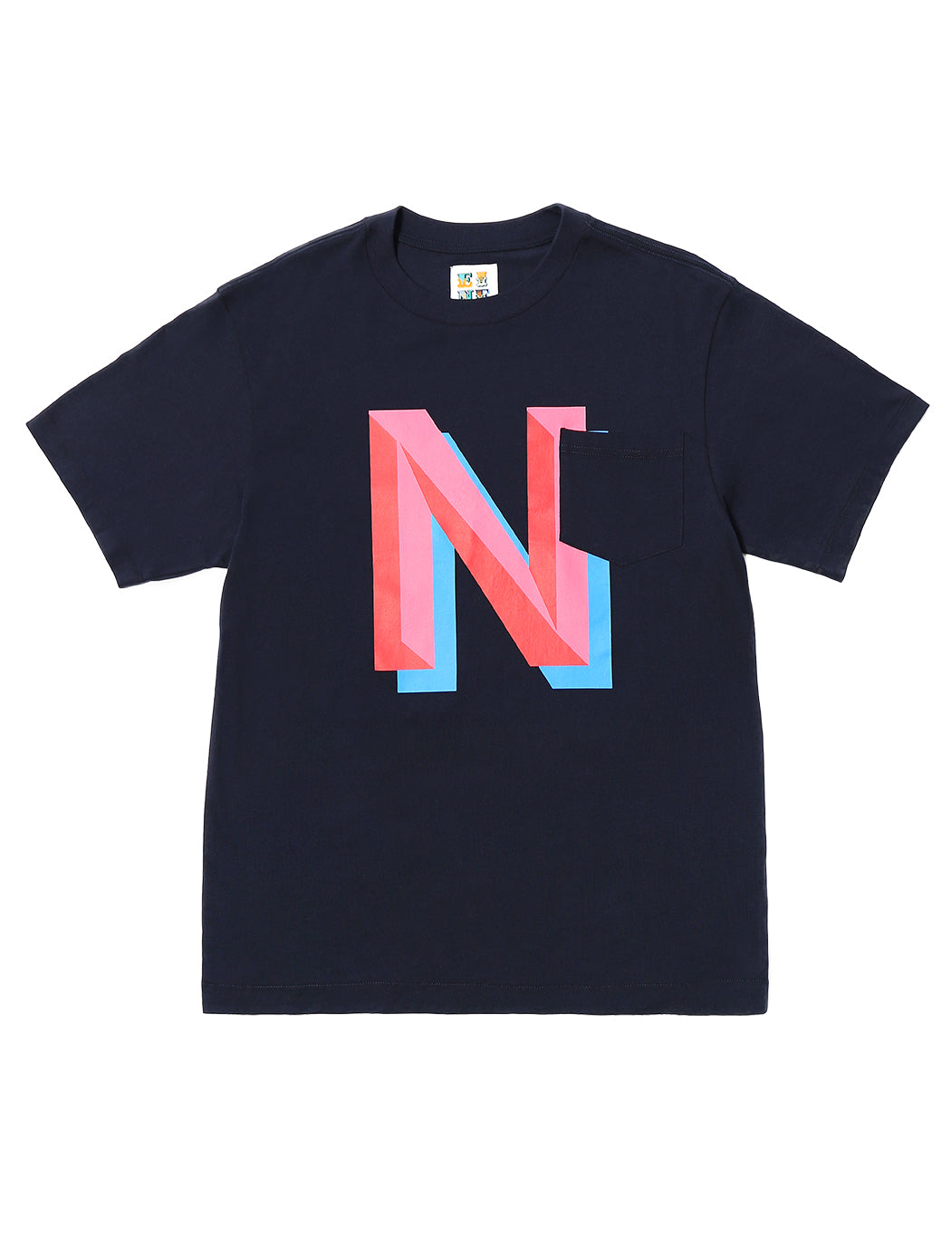 Gaspipe N Pocket S/S T-Shirt - Navy - Eine London by Ben Eine