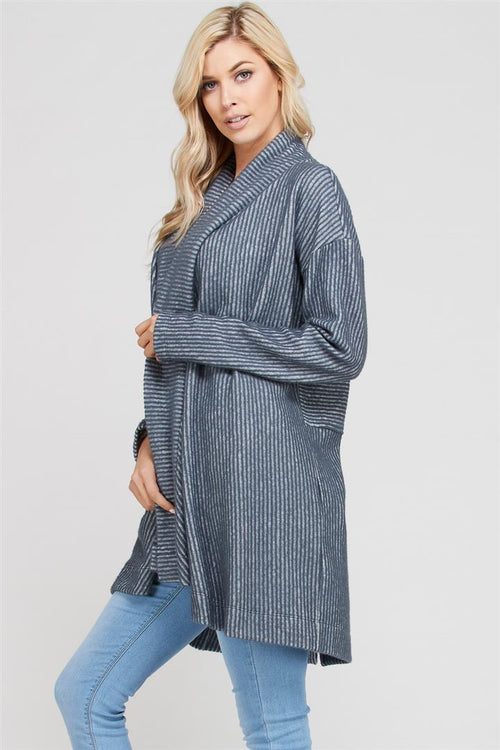Brush Rib Longline Cardigan
