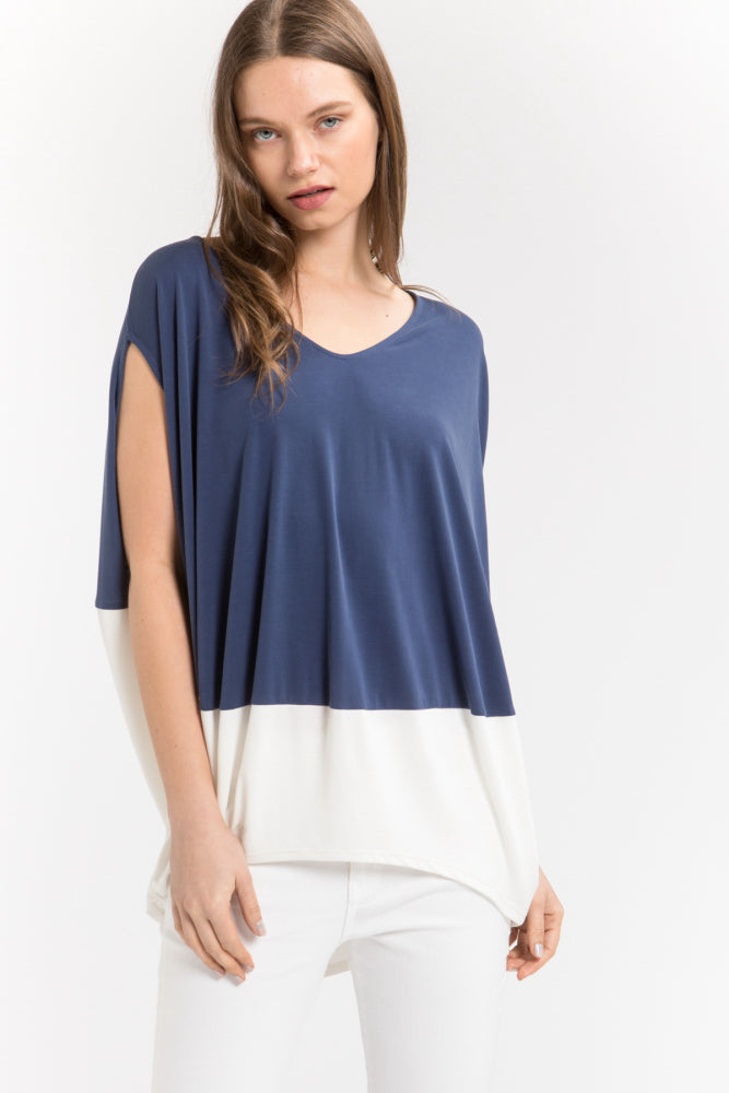 Flowy Color Block Top