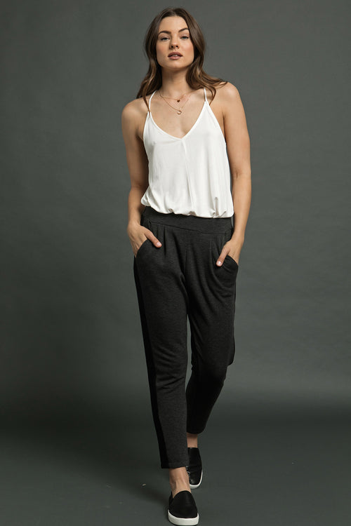 SIDE CONTRASTED JOGGER PANTS