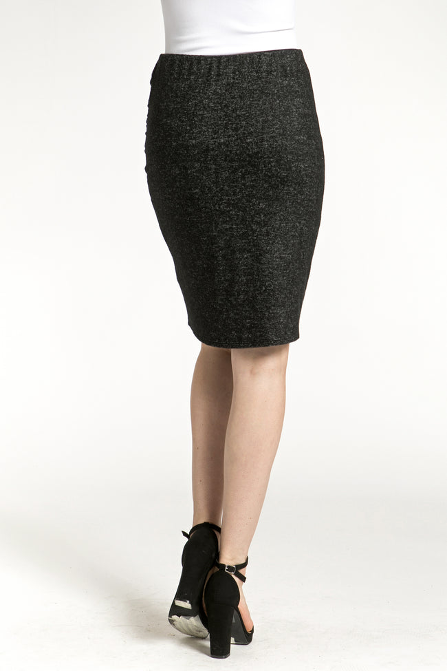 Side Cinched Medium Length Skirt