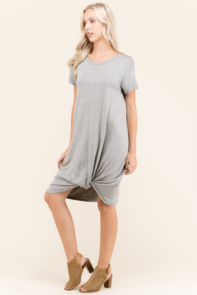 Styled Knotted T-Shirt Dress