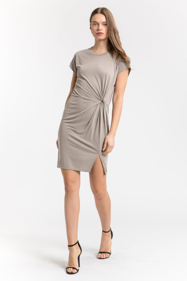 Knotted Roll Up Dress