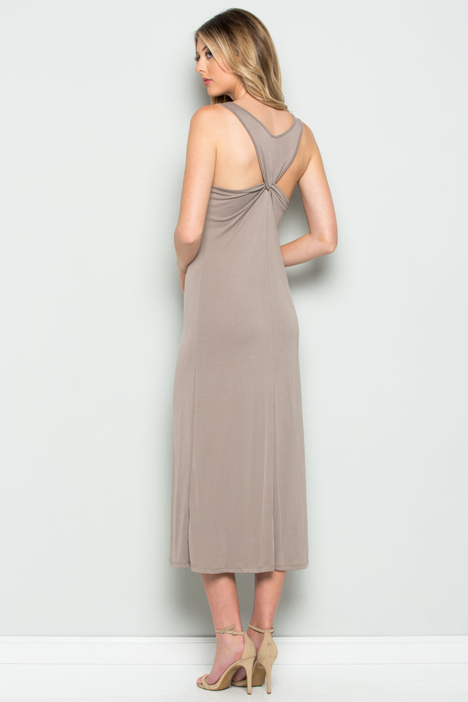 """Thais"" Back Knotted Dress"