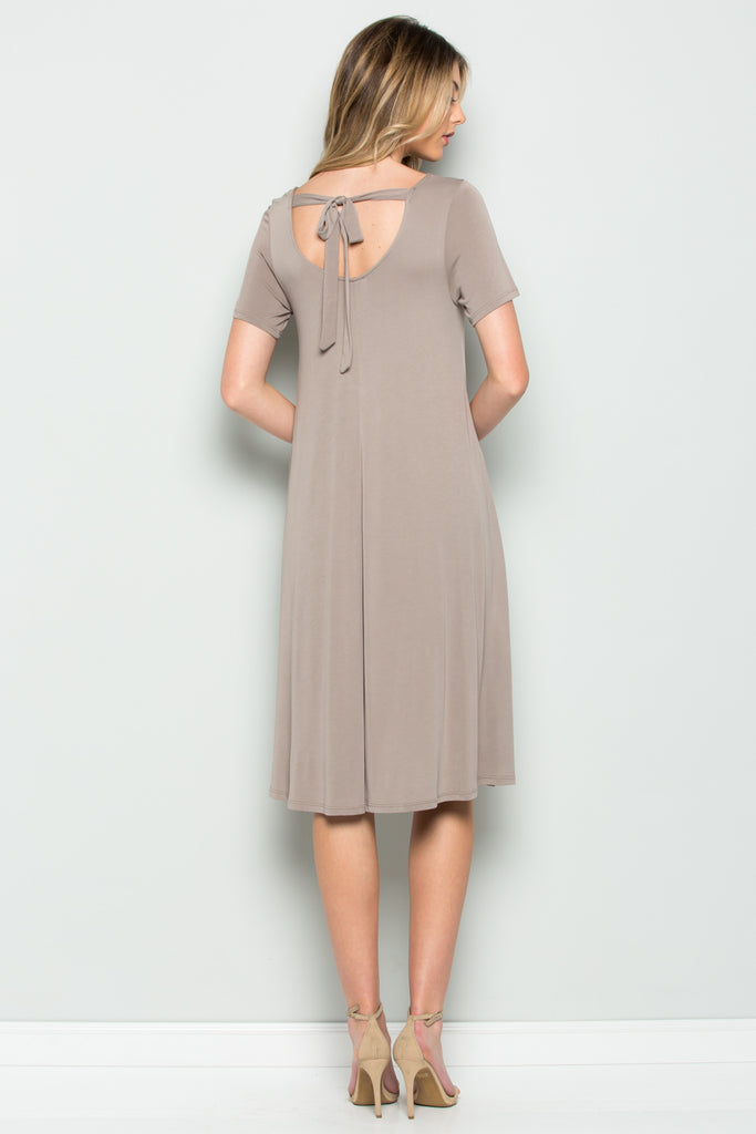 Back Tie Midi Dress