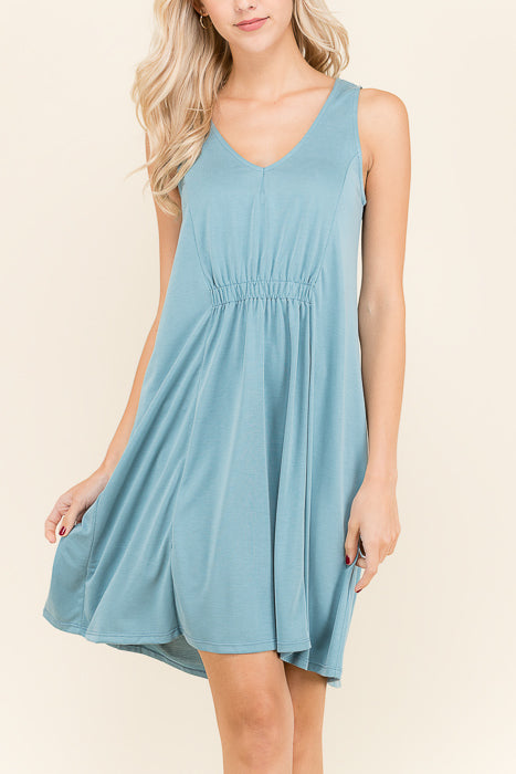 Lisa Cinched Tank Dress