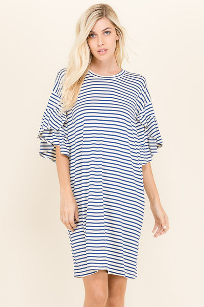 Ponie Ruffle Sleeve Dress