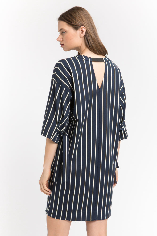 Pinstripe Shift Dress