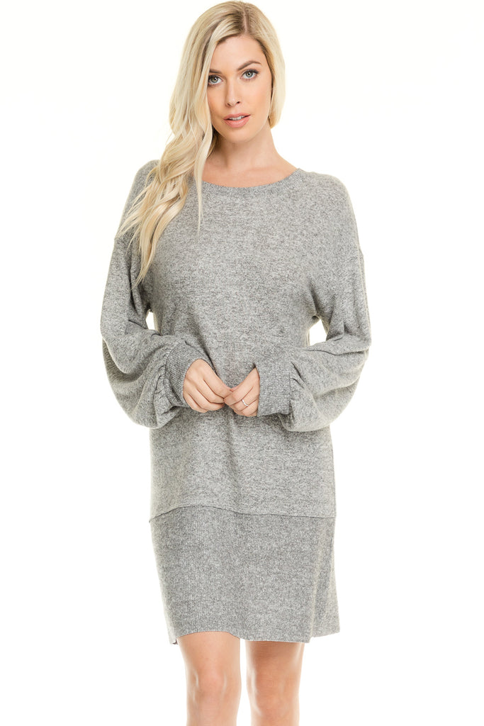 Back Tie Sweater Dress