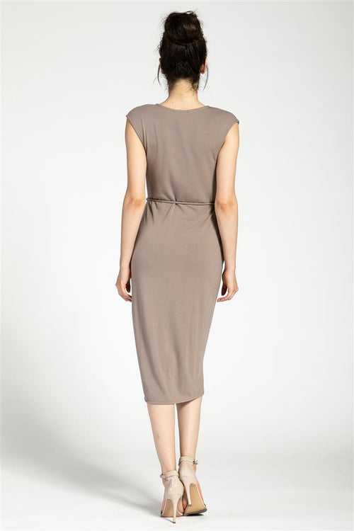 Surplice Sleeveless Dress