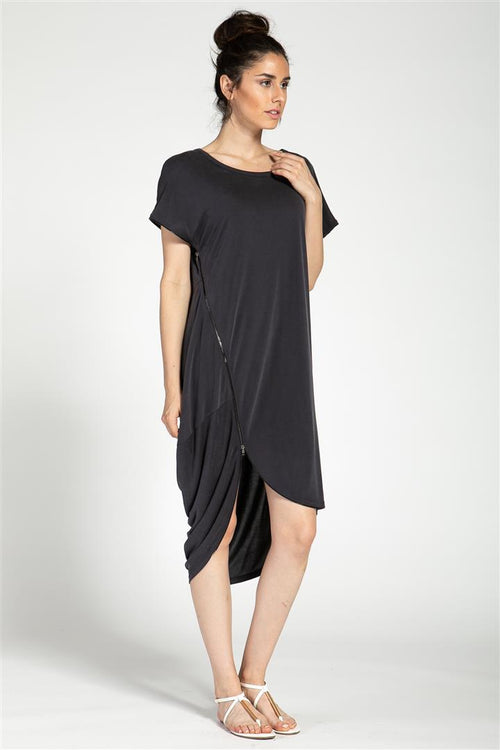 Asymmetric Zipped Dress