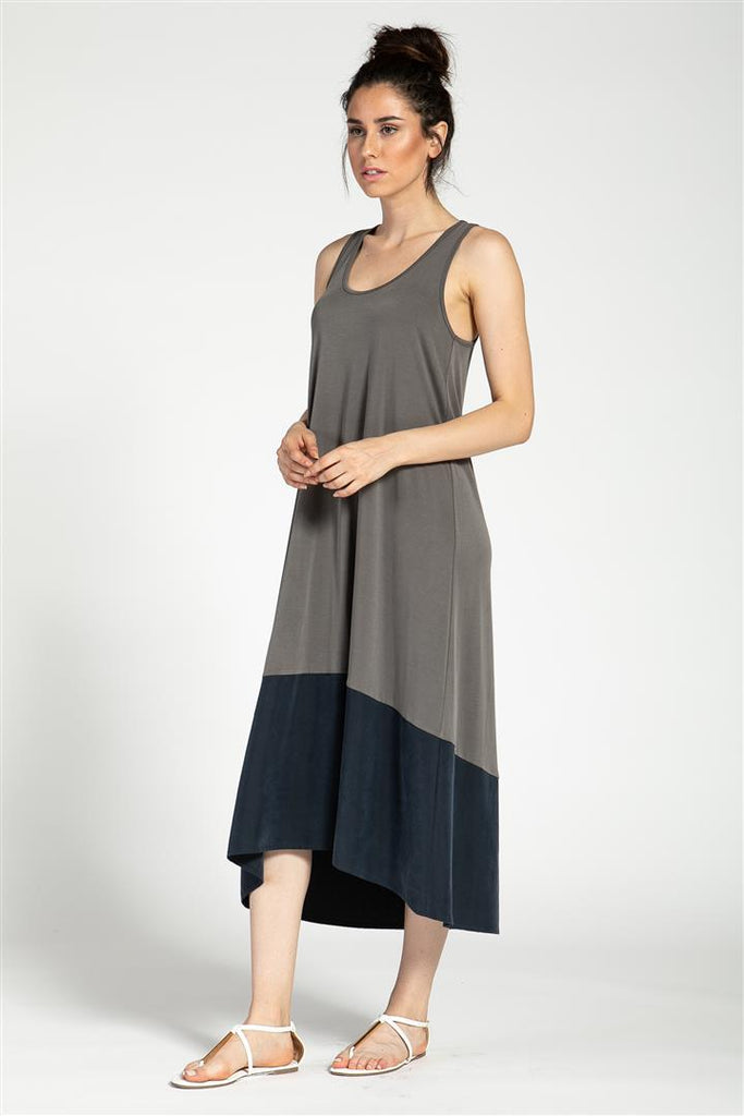 Contrasted Tank Dress
