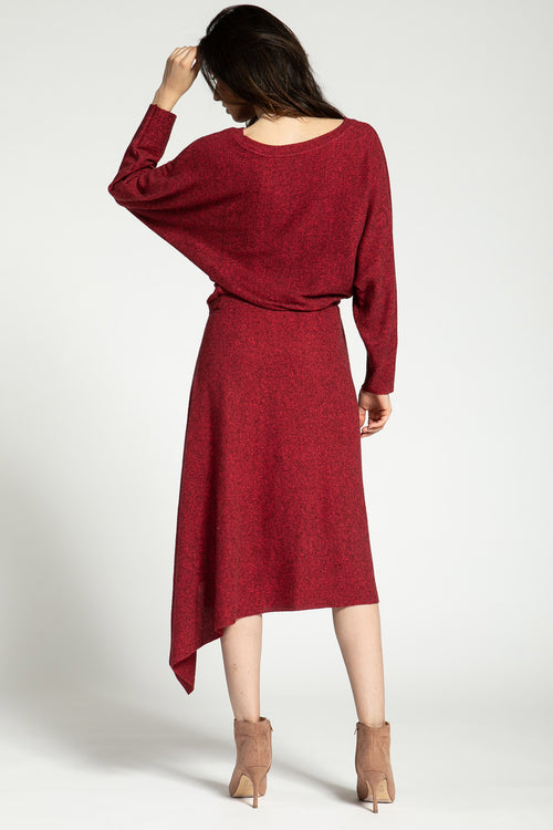 CREW NECK LONG SLEEVE SWEATER DRESS