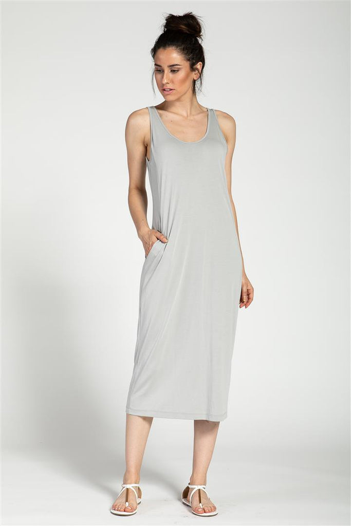 Slant Side Pocket Tank Dress