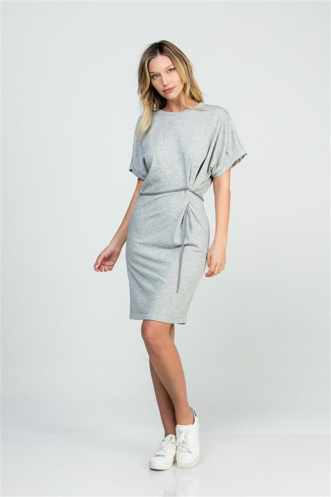 SIDE PLEATED DRESS