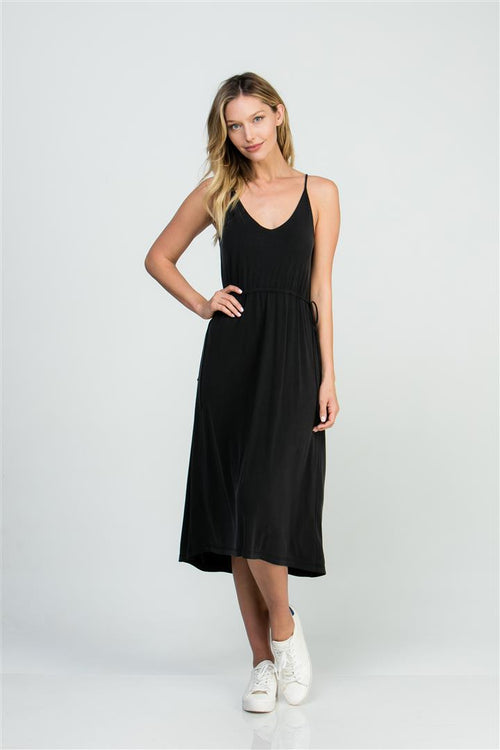 FRONT & BACK CINCHED TANK DRESS