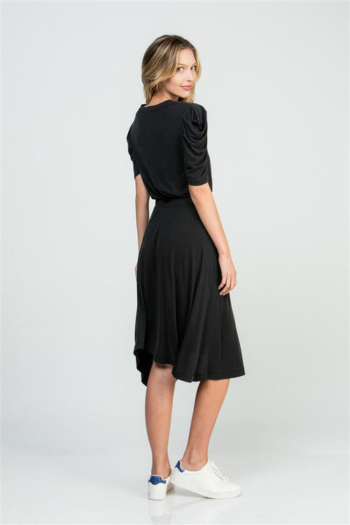 CASCADE SLEEVE DRESS