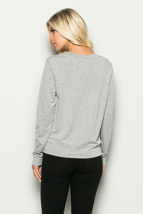 Side Zippered Sweatshirt