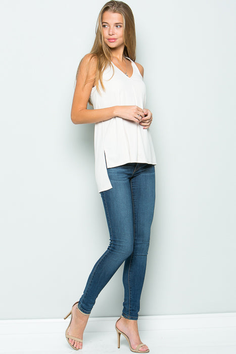 High Low Racerback Tank