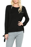Ribbon-Tied Sweatshirt - shopcoa