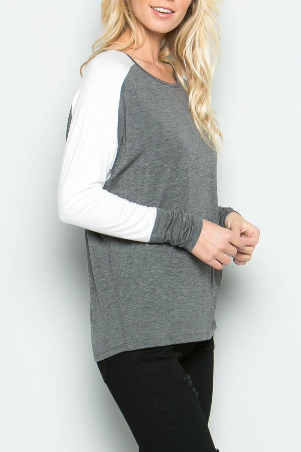 Constructed Color Block Top