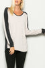 Contrast Band Long Sleeve Jumper