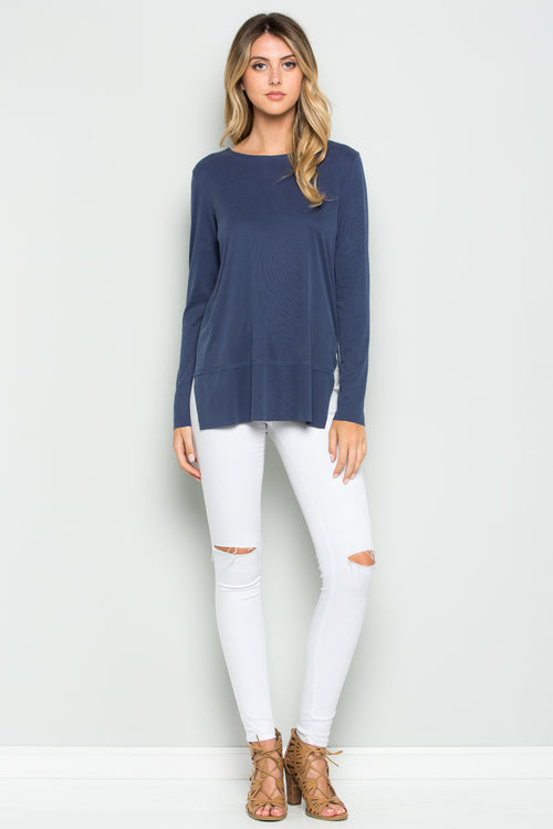 Ribbed Pullover Top