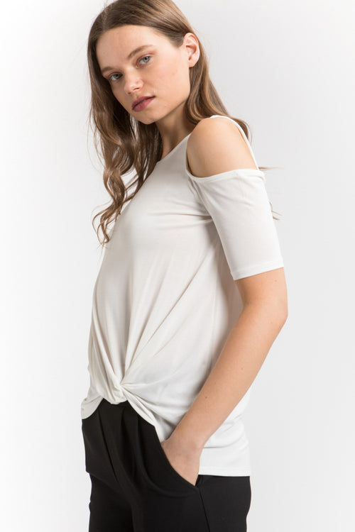 Sundowner Off Shoulder Side Knotted Top